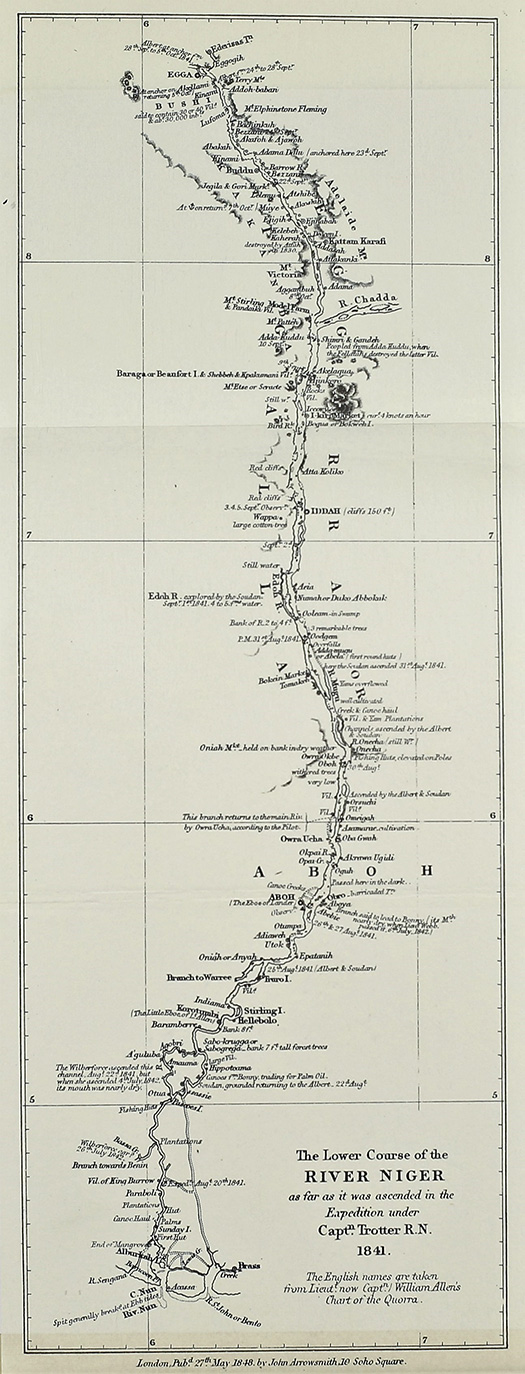 Map of the Niger from Trotter