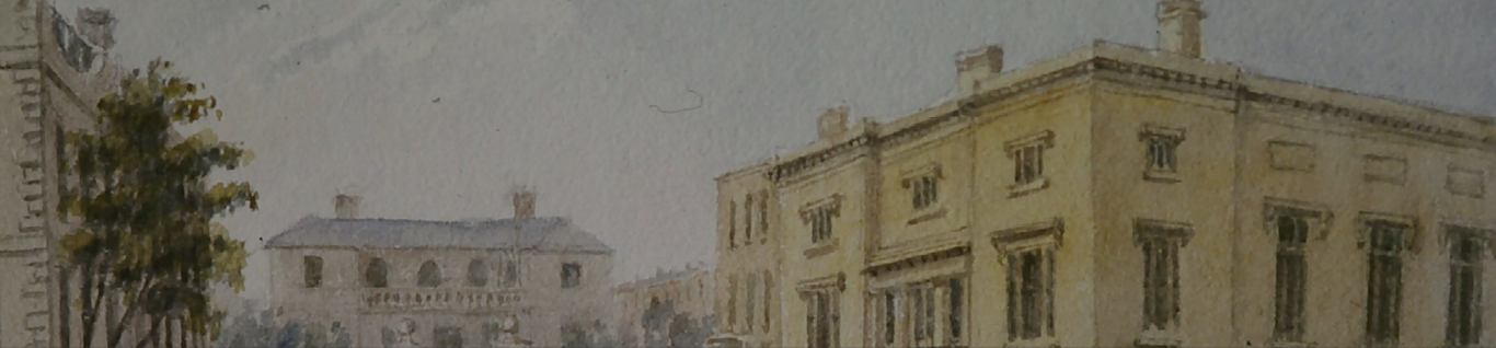 oil painting of the museum